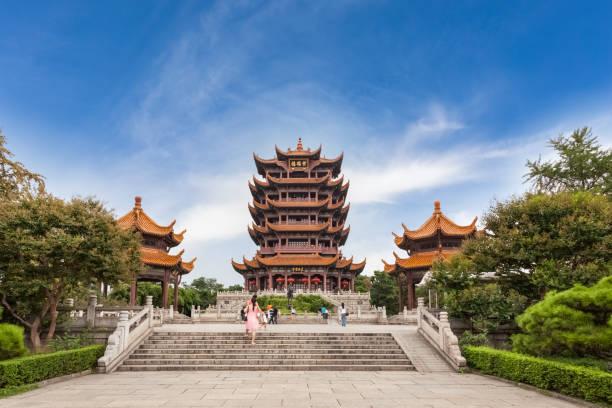 Wuhan Stadtbild in der Abenddämmerung – Foto