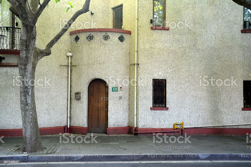 210 Wukang Road house, Old french concession of Shanghai, China stock photo