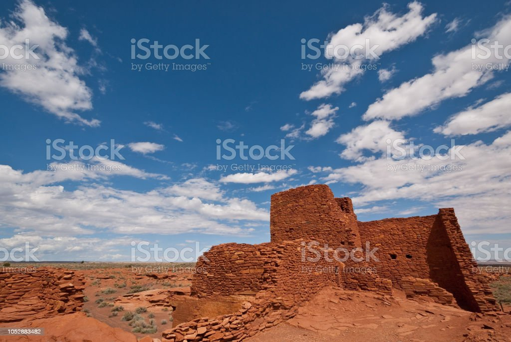 Wukoki Pueblo Ruins stock photo