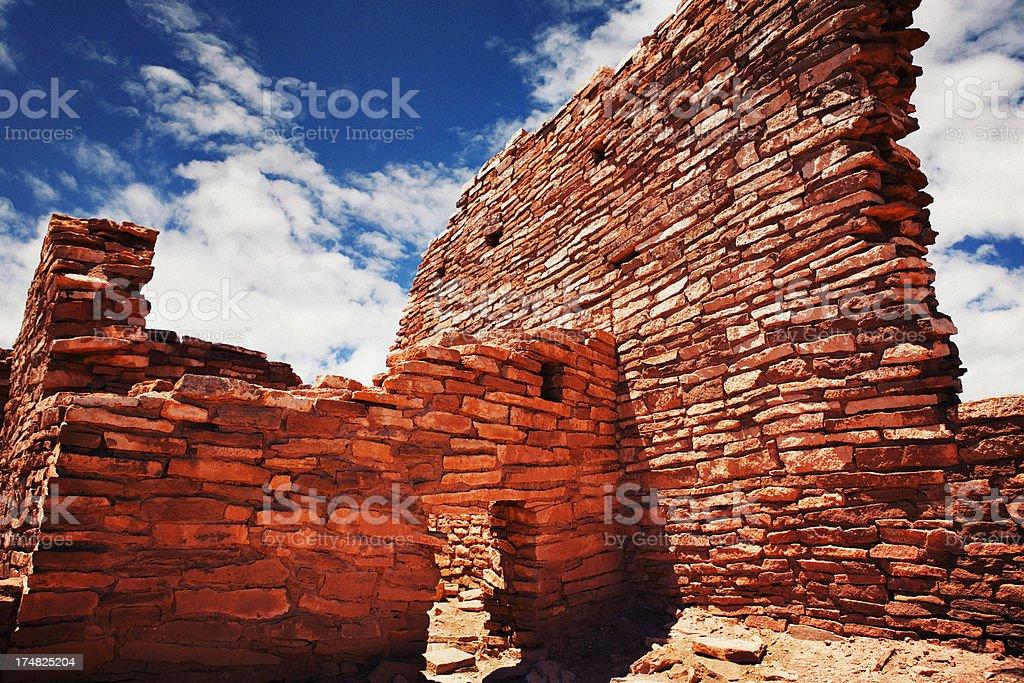 Wukoki Ruins - Wupatki National Monument royalty-free stock photo