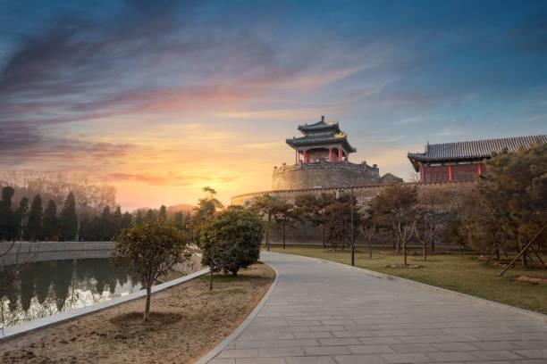Wuling congtai building, handan city, hebei province, China stock photo