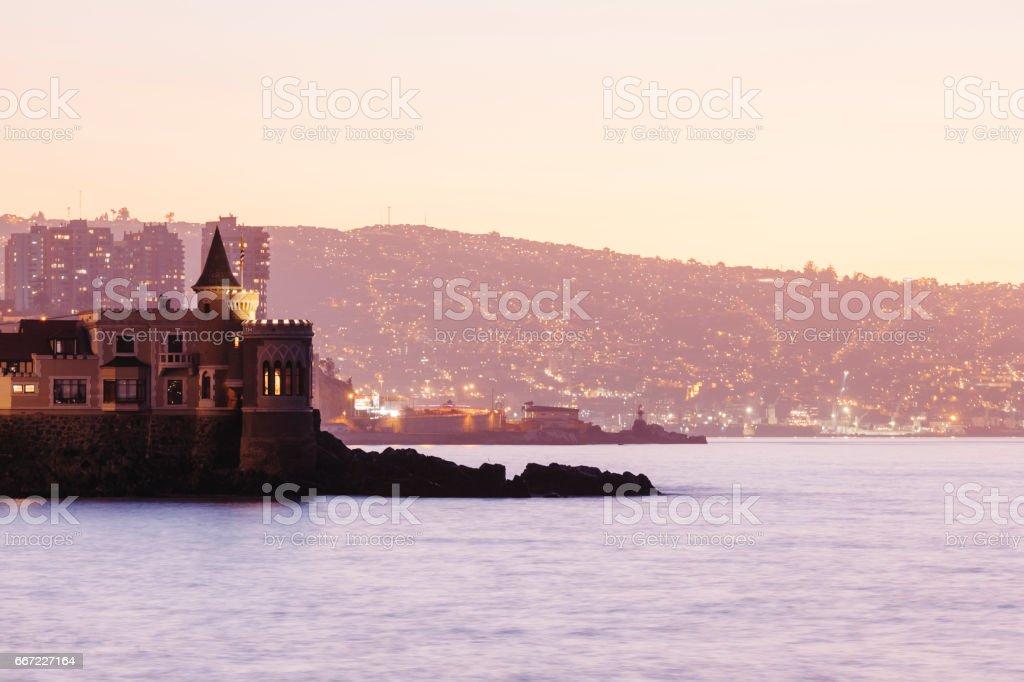 Wullf Castle, Vina del Mar stock photo