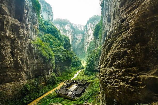 우롱 국립 공원, chongqing, china - 카르스트 지형 뉴스 사진 이미지