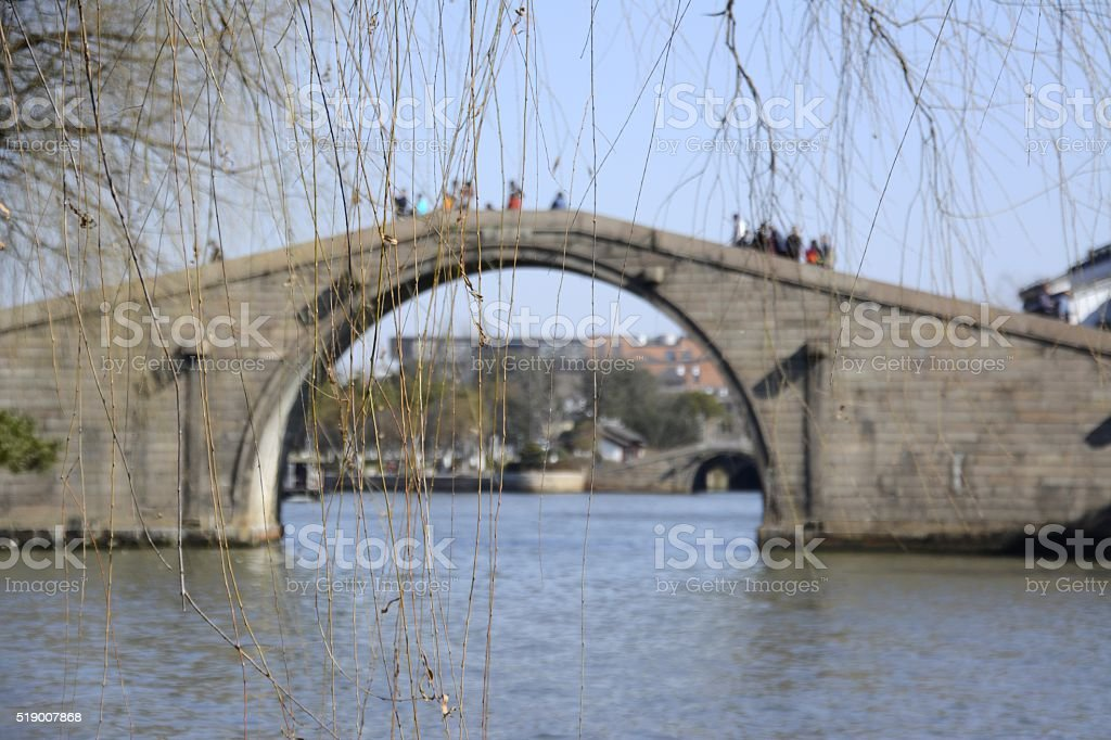 Wumen bridge, Suzhou, China stock photo