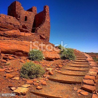 Wupatki National Park Ancient Ruins in Flagstaff, Arizona USA
