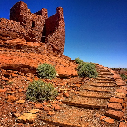 Wupatki National Park Ancient Ruins in Flagstaff, Arizona USA