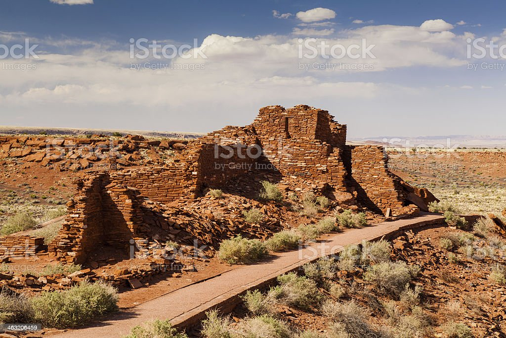 Wupatki Pueblo royalty-free stock photo