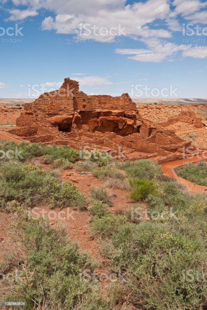Wupatki Pueblo Ruins stock photo