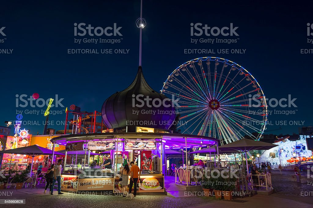 Wurstelprater, Vienna, Austria stock photo