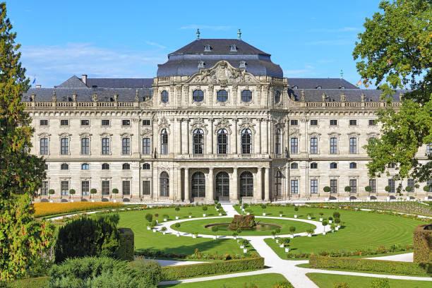 Wurzburg Residence and Court Gardens in Wurzburg, Germany stock photo