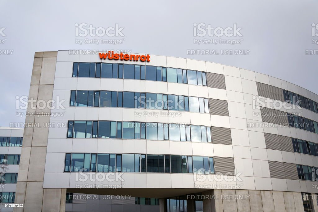 Wustenrot Group company logo on headquarters building