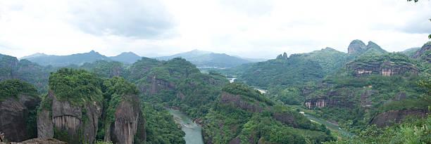 Wuyi mountain landscape,panorama stock photo