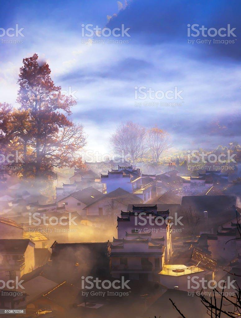 Wuyuan scenery stock photo