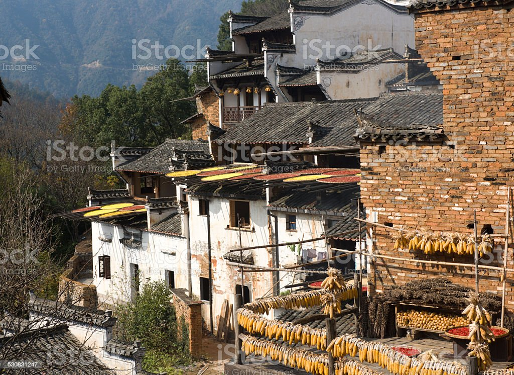 wuyuan,the most beautiful village in China stock photo