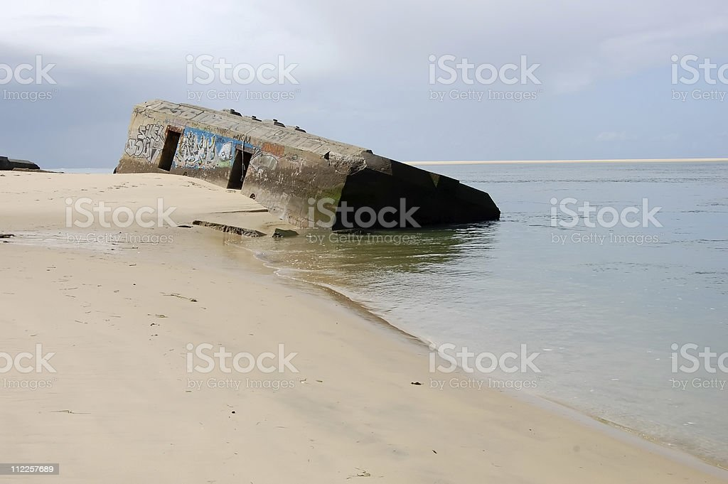 ww2: blockhouse bunker in France royalty-free stock photo