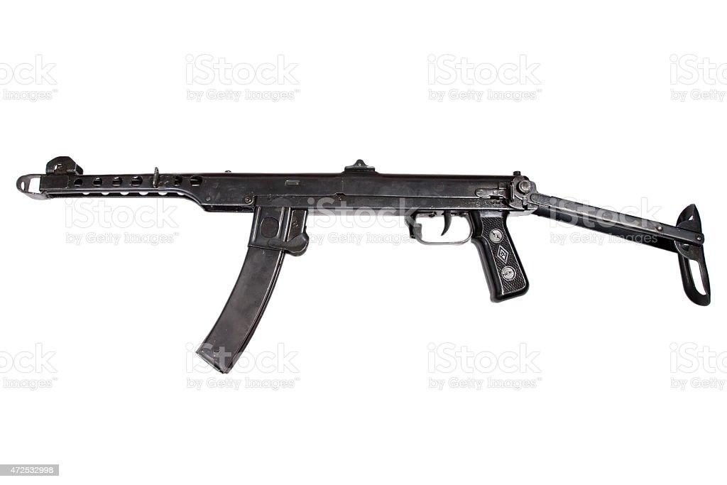 ww2 submachine gun isolated on a white background stock photo