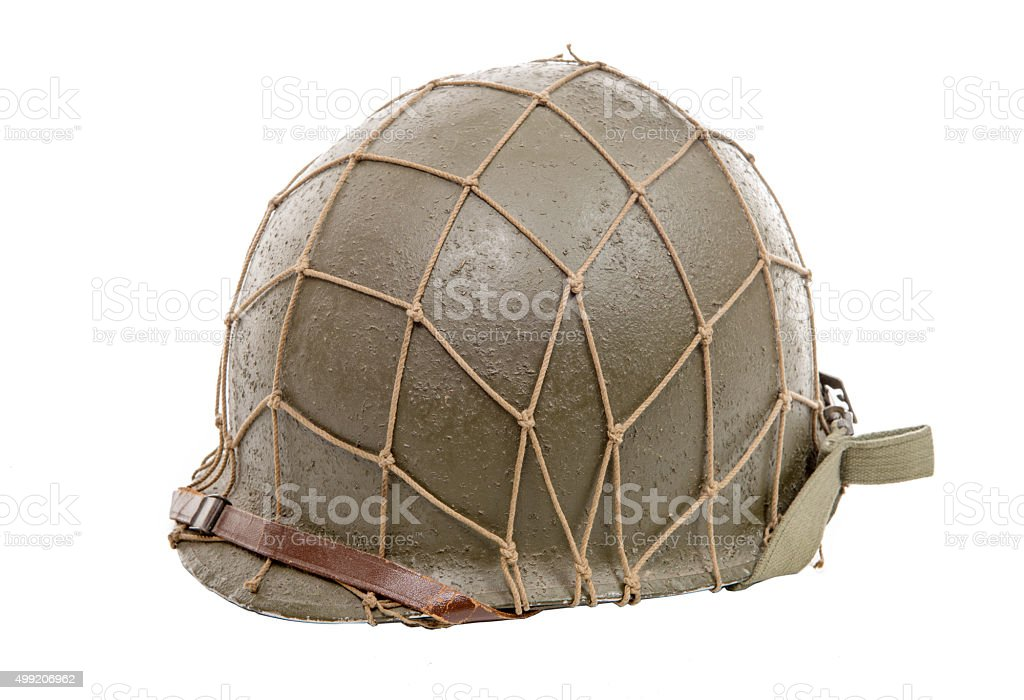 ww2 US military helmet stock photo