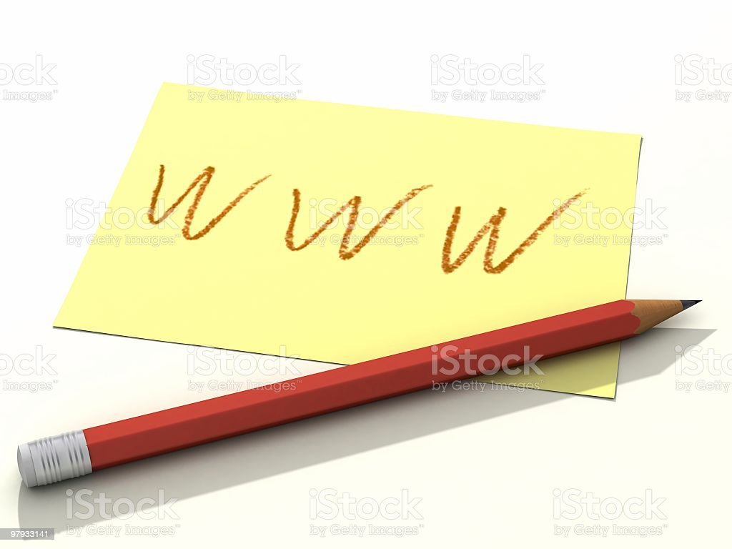 Www with pencil royalty-free stock photo