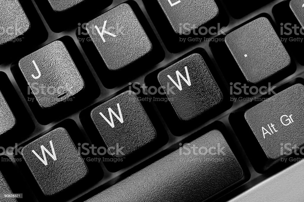 www. written across black computer keyboard stock photo