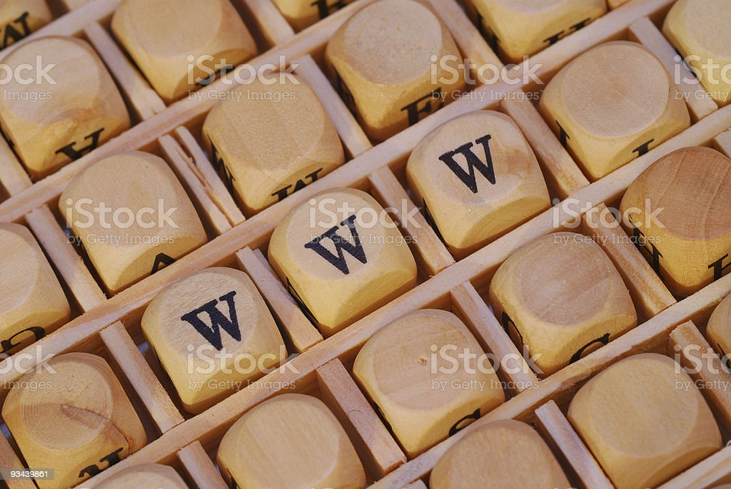 www written with wooden letters stock photo