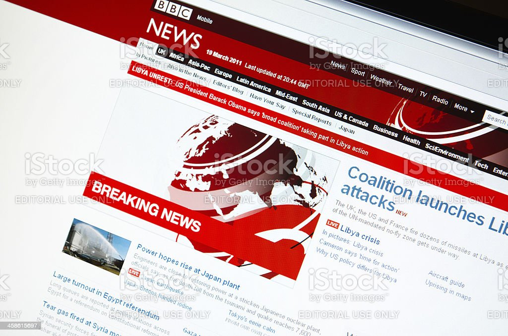 www.bbc.co.uk main page royalty-free stock photo