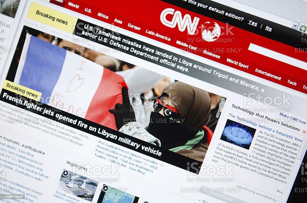 www.cnn.com main page royalty-free stock photo