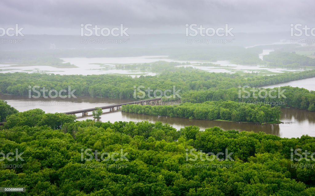 Wyalusing State Park stock photo