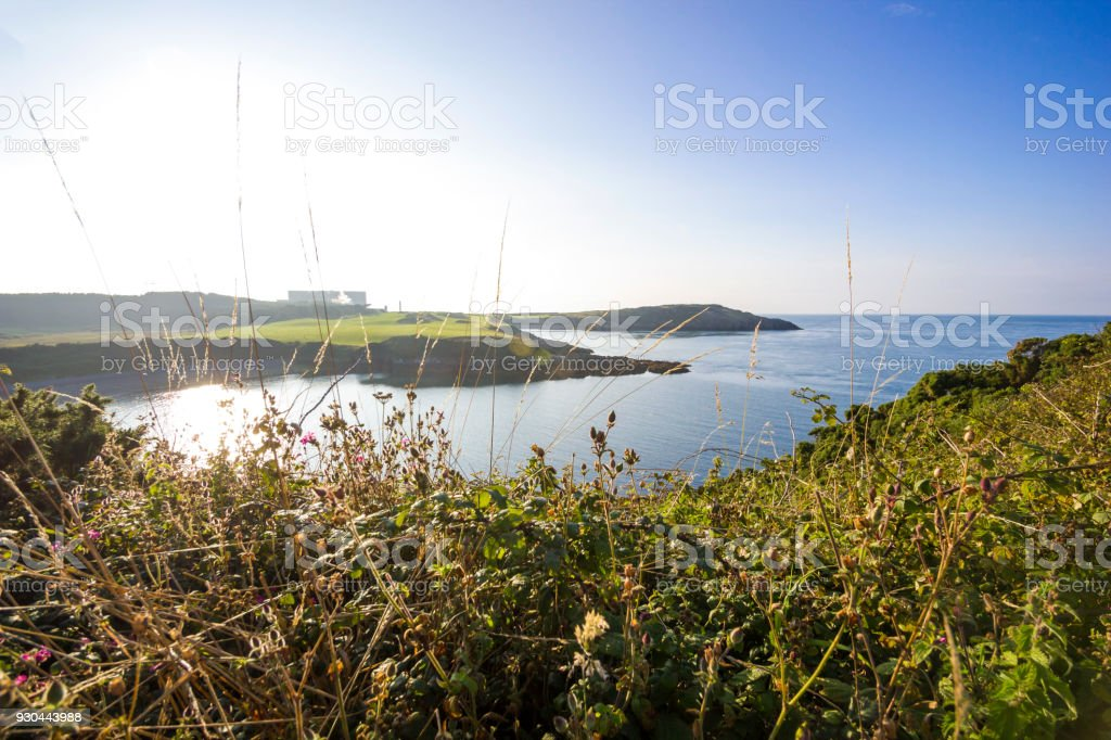Wylfa Nuclear Power Station in Llanddausaint, Anglesea, Wales, UK stock photo