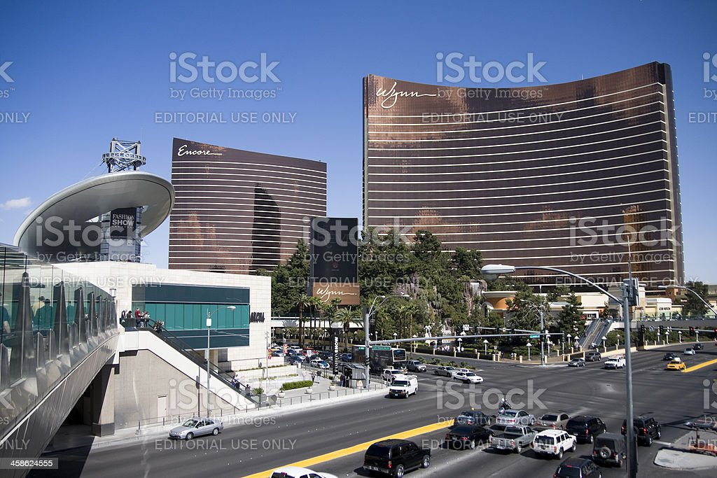 Wynn and Encore Hotels on the Strip in Las Vegas stock photo
