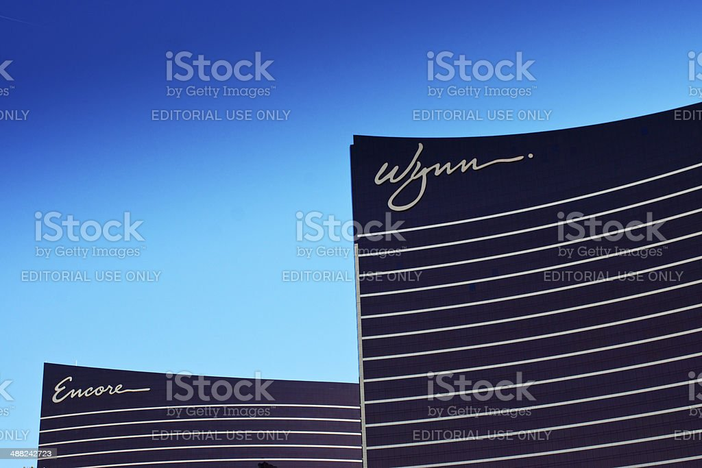 Wynn and Encore hotels stock photo