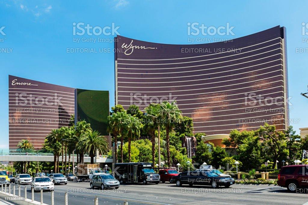 Wynn Hotel and Casino on the Las Vegas Strip stock photo