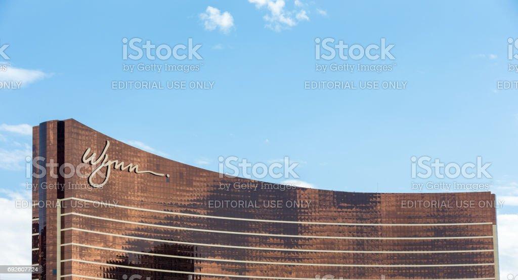Wynn Hotel in Las Vegas with Blue Sky stock photo