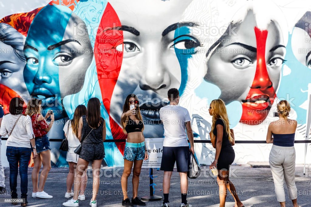 Wynwood Art District Vorbereitung für die Art Basel – Foto
