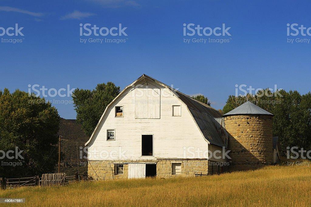 Wyoming Barn stock photo