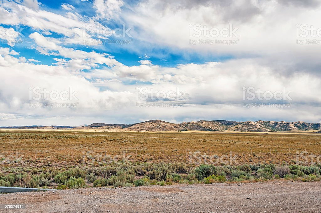 Wyoming Countryside near Independence Rock and Immigrant Trail stock photo