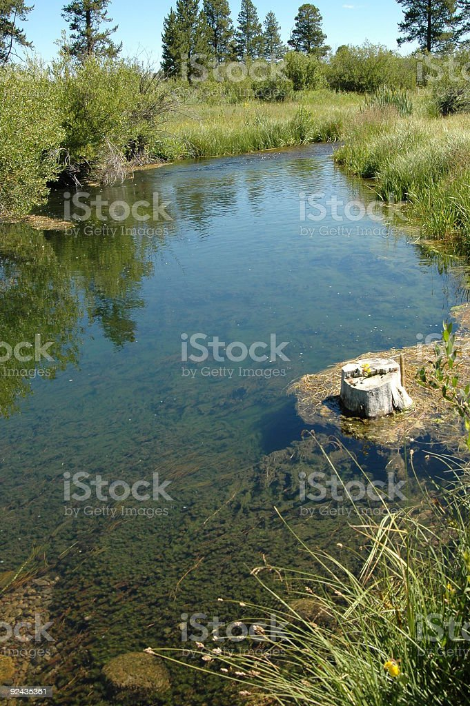 wyoming creek stock photo