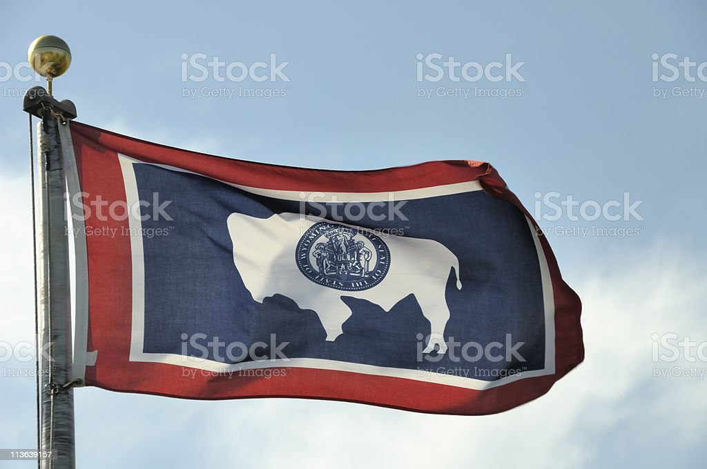 Wyoming Flag royalty-free stock photo