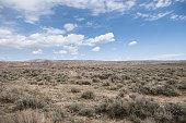Abandonded Wyoming plain grasslands.