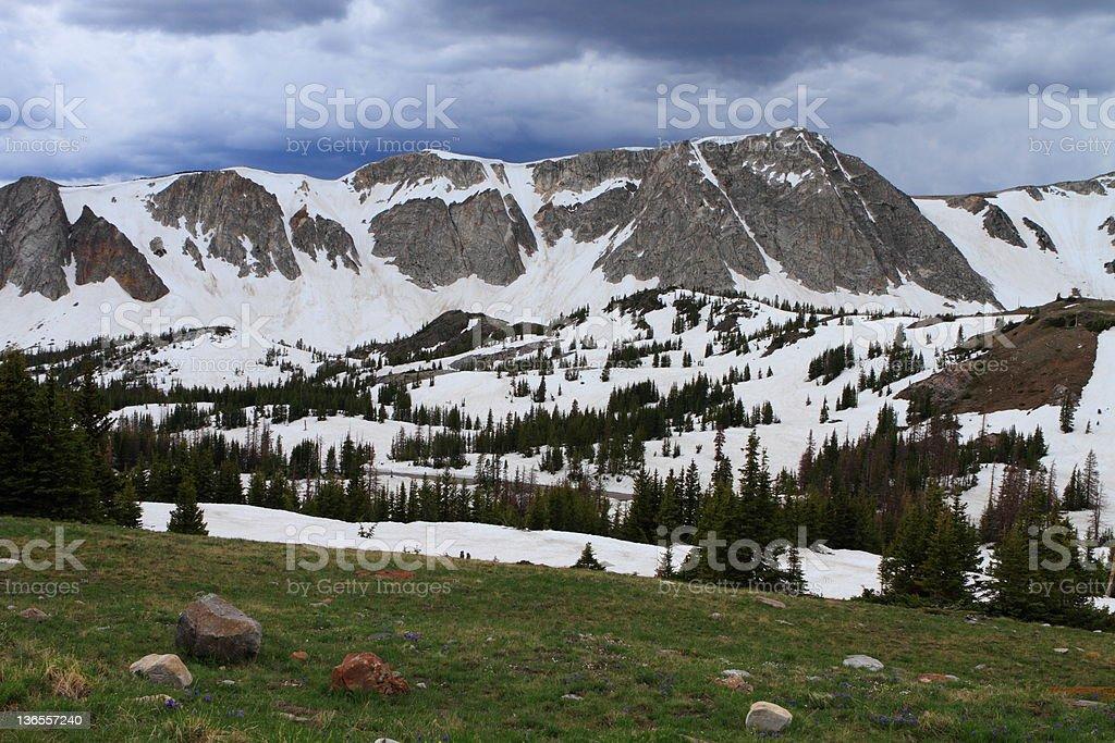 Wyoming mountains stock photo