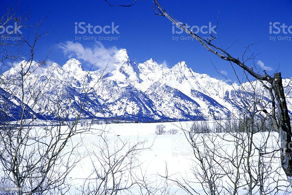Wyoming Mountains royalty-free stock photo