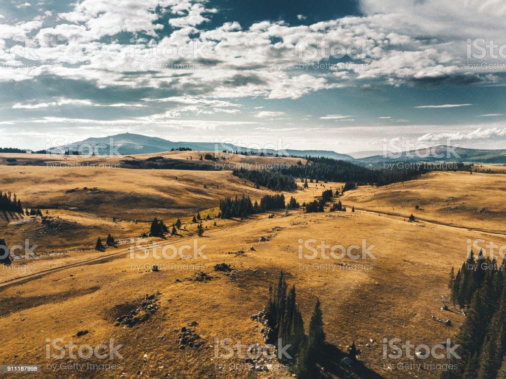 Wyoming prairie stock photo