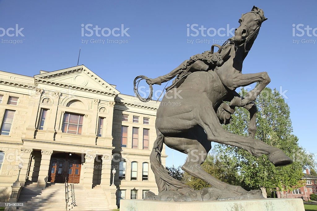 Wyoming State Capitol stock photo