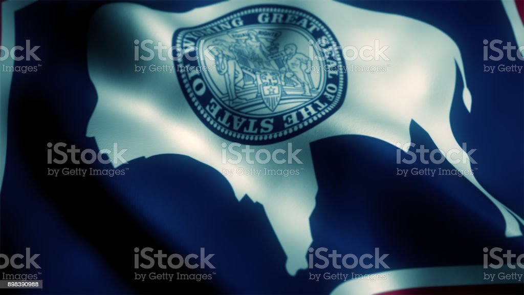 wyoming state flag stock photo