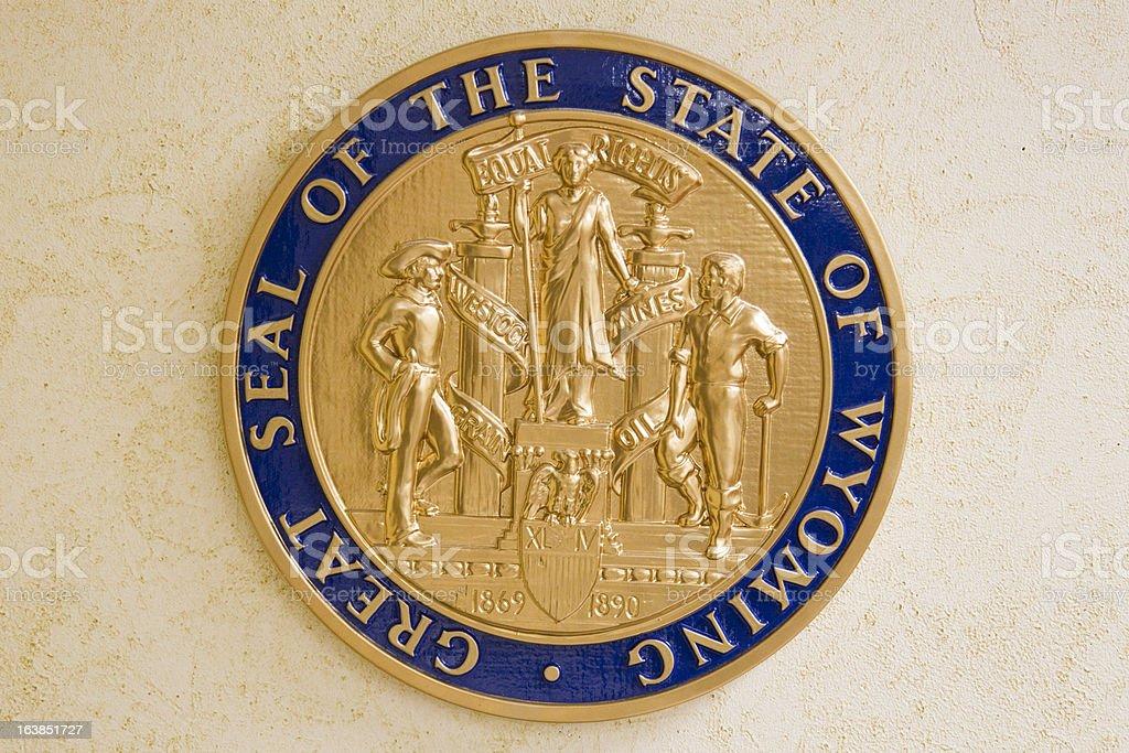Wyoming State Seal stock photo