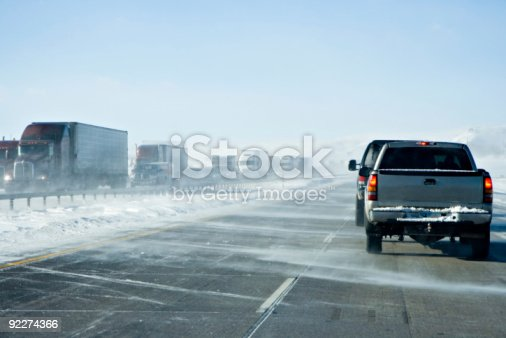 1127834626 istock photo Wyoming Winter Traffic Jam 92274366