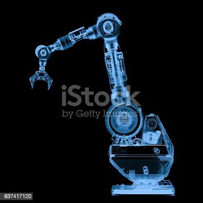 istock x ray robotic arm isolated on black 637417120