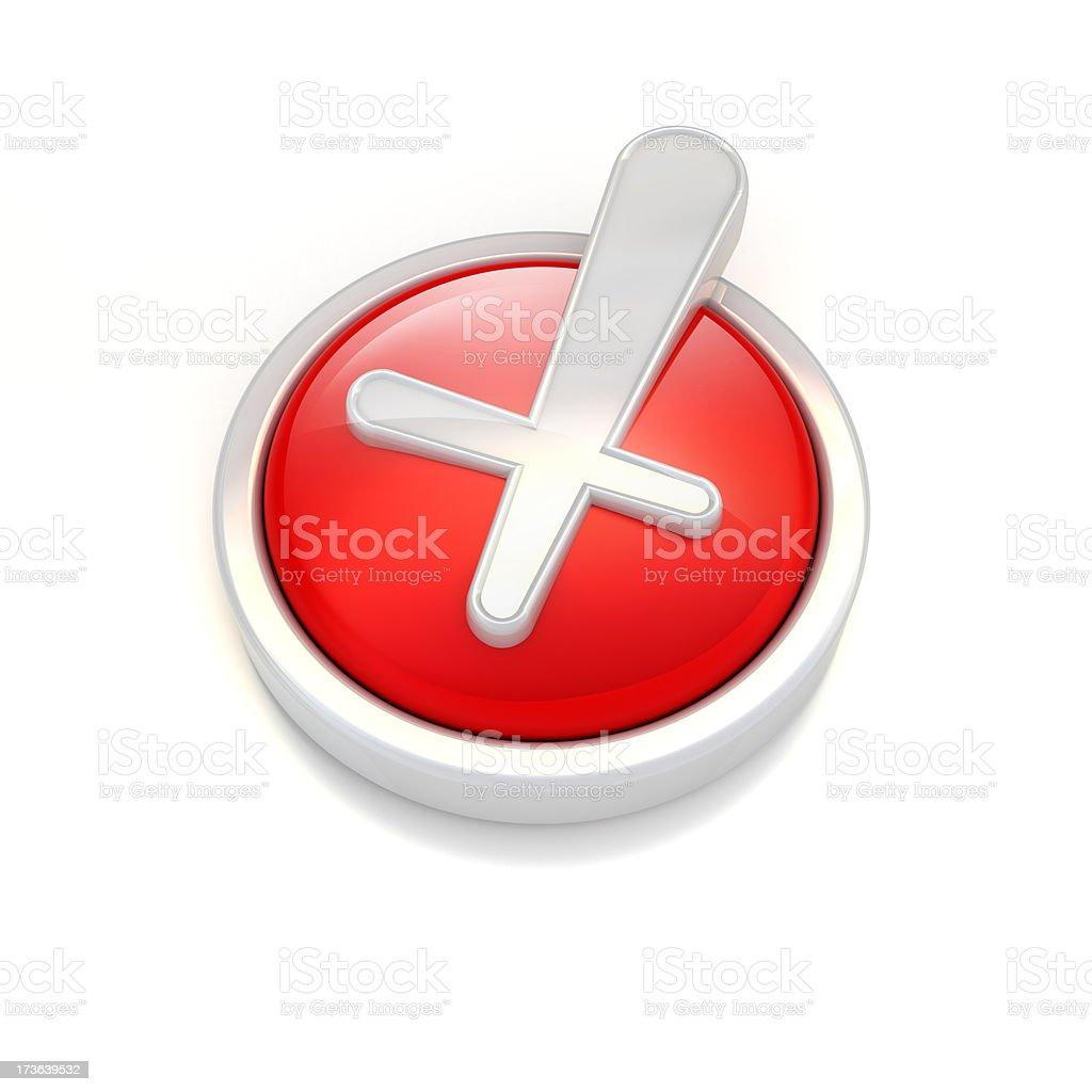 x sign icon royalty-free stock photo