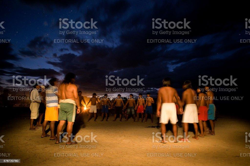 Xavante Dance stock photo