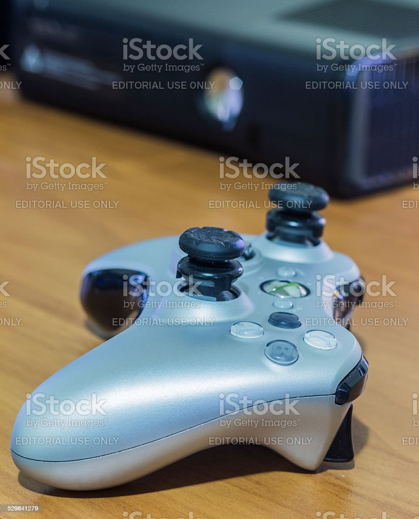 Xbox 360 Console and Controller stock photo