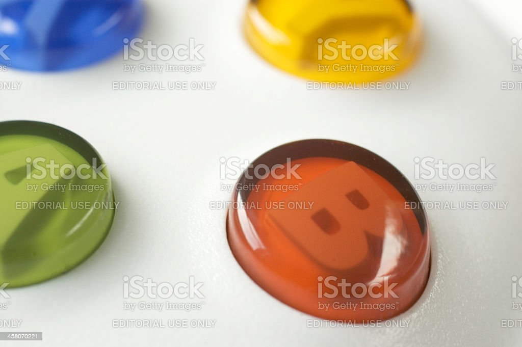 xbox games console buttons royalty-free stock photo